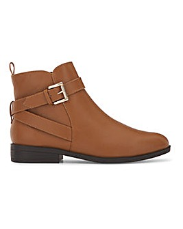 Buckle Detail Boots With Inside Zip Extra Wide EEE Fit