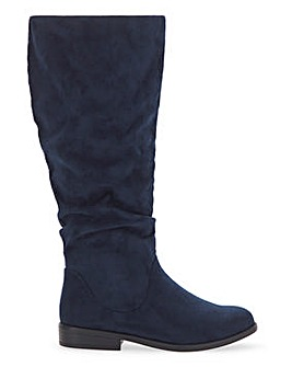 Microsuede High Leg Boots Extra Wide EEE Fit Super Curvy Calf