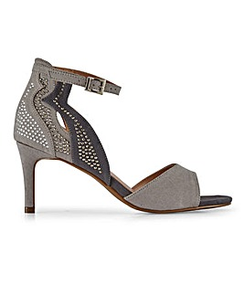 Side Detail Closed Back Sandals Extra Wide EEE Fit