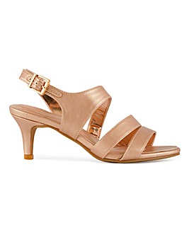 Strappy Slingback Sandals Wide E Fit