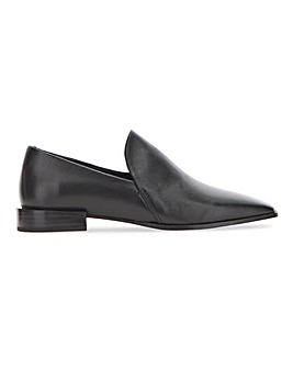 Square Toe Slip on Leather Shoe Wide E Fit