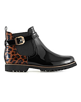 Casual Cleated Sole Ankle Boots Extra Wide EEE Fit