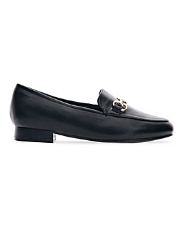 Flexi Sole Trim Loafers Wide E Fit
