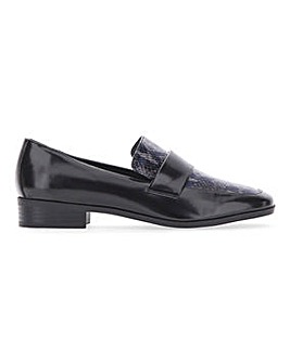 Flexi Sole Square Toe Loafers Wide E Fit