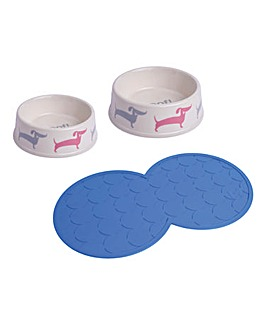 Petface Dog Deli Feeding Bowl Set