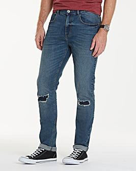 Label J Rip Repair Jean Short