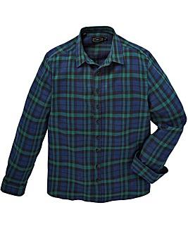 Label J Back Print Check Shirt Long