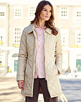 Berry Diamond Quilted Jacket