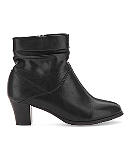 Cushion Walk Ruched Ankle Boots Wide E Fit