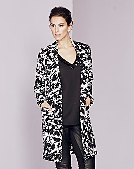 Print Crepe Duster Jacket