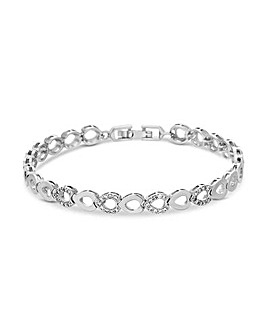 Jon Richard Polished Open Link Bracelet