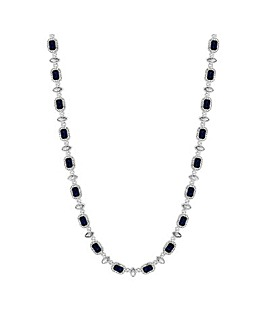 Jon Richard Blue Crystal Square Necklace