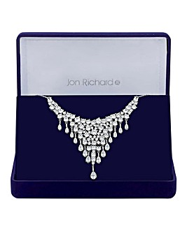 Jon Richard Sparkle V Drop Necklace