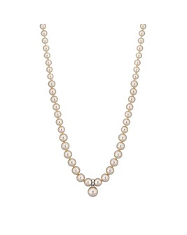 Jon Richard Magnetic Pearl Necklace