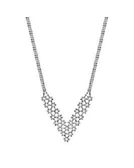 Jon Richard Pearl Crystal Flora Necklace