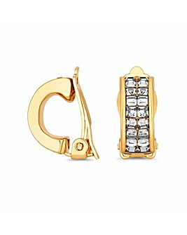 Jon Richard Gold Half Hoop Clip Earring