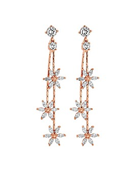 Jon Richard Three Flower Linear Earring