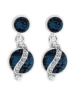 Jon Richard Double Drop Encased Earring