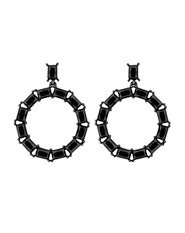 MOOD By Jon Richard Black Drop Earring