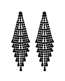 MOOD By Jon Richard Black Shower Earring