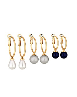 MOOD By Jon Richard Pearl Hoop Earring