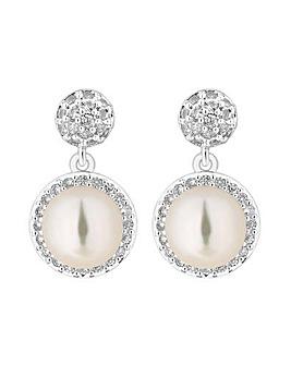 Jon Richard Crystal Halo Pearl Earring