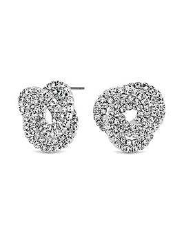 MOOD By Jon Richard Knot Stud Earring
