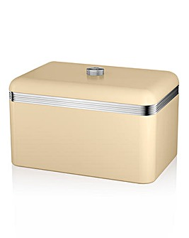 Swan Retro Bread Bin Cream
