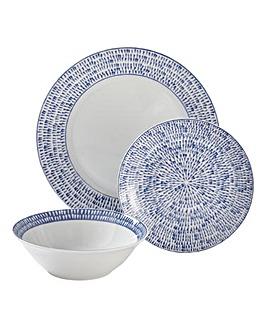 Nautical Blues 12-Piece Dinner Set