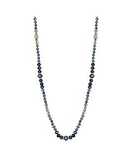 Jon Richard Beaded Pave Ball Necklace