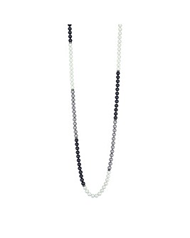 Jon Richard Grey Ombre Pearl Necklace
