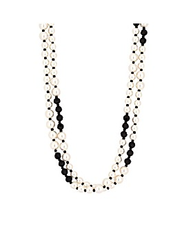 Jon Richard Black Cream Pearl Necklace