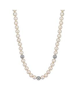 Jon Richard Cream Pearl Necklace Balls