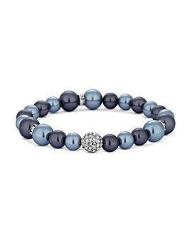 Jon Richard Blue Pearl Stretch Bracelet