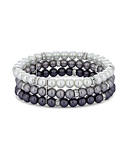Jon Richard 3 Row Ombre Stretch Bracelet