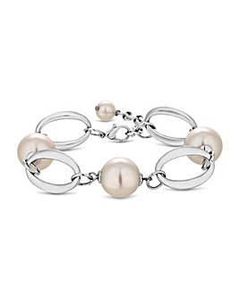 Jon Richard Cream Pearl Oval Bracelet