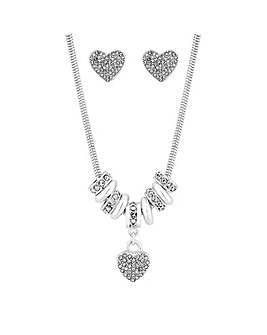 Jon Richard Two Tone Heart Charm Set