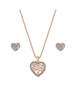Jon Richard Rose Filagree Heart Set