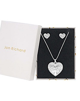 Jon Richard Filagree Heart Necklace