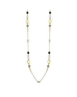 Jon Richard Gold And Black Rope Necklace