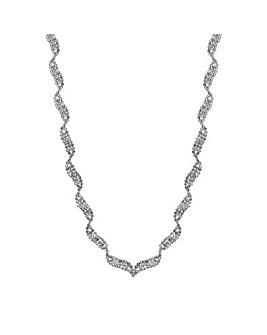Jon Richard Crystal Allway Wave Necklace