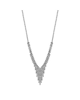 Jon Richard Crystal Y Drop Necklace