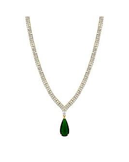 Jon Richard Emerald Drop Collar Necklace