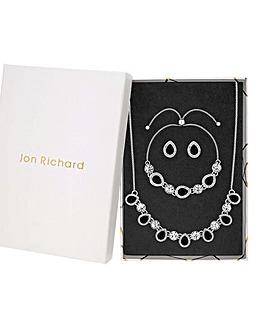 Jon Richard Crystal Black Pearl Set
