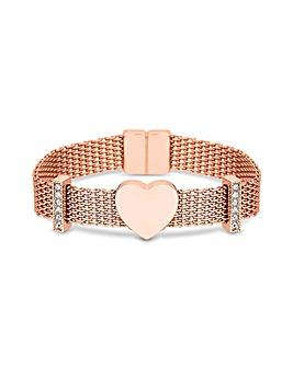 Jon Richard Rose Mesh Charm Bracelet