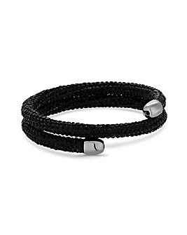 Jon Richard Black Sparkle Wrap Bangle