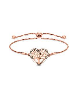 Jon Richard Heart Tree Of Life Bracelet