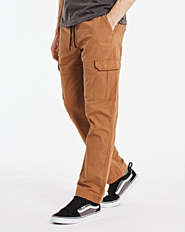 Stretch Drawstring Cargo Trousers 29""