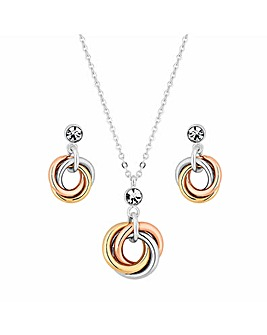 Jon Richard Multitone Twist Pendant Set