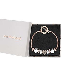 Jon Richard Heart Charm Bracelet